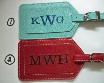 Luggage Tag--Personalized Three Letter Times Font