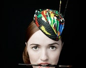 """50's Style Painted Hat """"The Cheeky Never Mind The Pollocks """""""