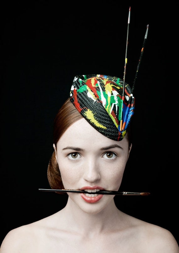 "50's Style Painted Hat ""The Cheeky Never Mind The Pollocks """