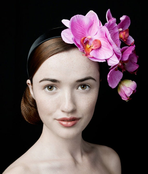 """JANUARY SALE: Pink Orchid Fascinator  """"The Gorgeous Lotta"""""""