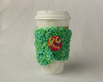 Nature Cotton Coffee Cup Cozy GREEN