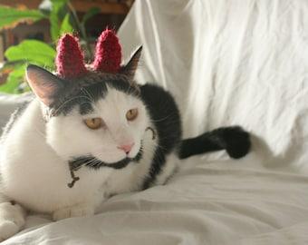 CAT HAT Devil Monster Horns -  ANY Color Made to Order