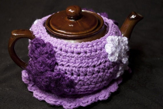 Made To Order AnY CoLoR SiZe - Teapot Cozy Jacket with Flowers