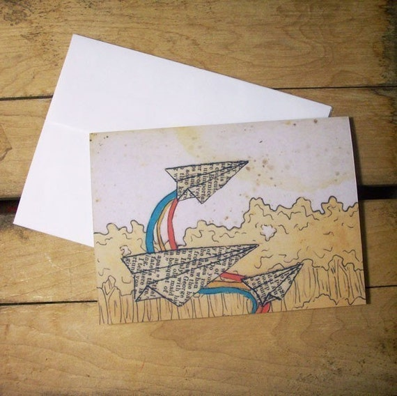 Paper Planes Note Card