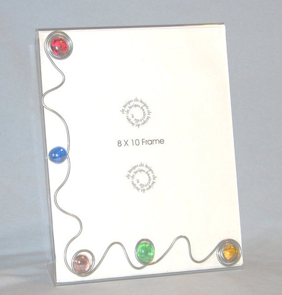 8 X 10 Standing Frame embellished with wire and glass stones