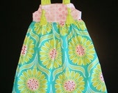Summer Knot dress..... SO CUTE WON'T LAST LONG.....Size 6m, 9m, 12m, 18m, 2T, 3T, 4T, 5T....Larger sizes available upon request....