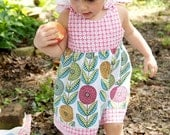 SALE....Tender Heart Shoulder Knot Dress.....Ready for Delivery....6m, 12m,  2T, 4T