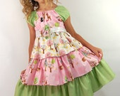 Ready for delivery......Forest Friends Ruffle Dress........Sizes12m, 18m, 2T, 3T