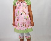 Forest Friends Peasant Dress..... Ready for delivery....Sizes  2T, 3T, 4T, 5, 6, 7