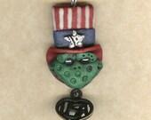 Patriotic Froggy Necklace