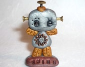 Miniature Inspirational Shine Robot Polymer Clay Figure