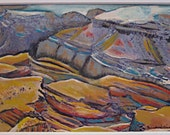 Sale- Original Acrylic Painting On Paper-  Landscape - Grand Canyon