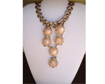 Pink and gold necklace - SALE