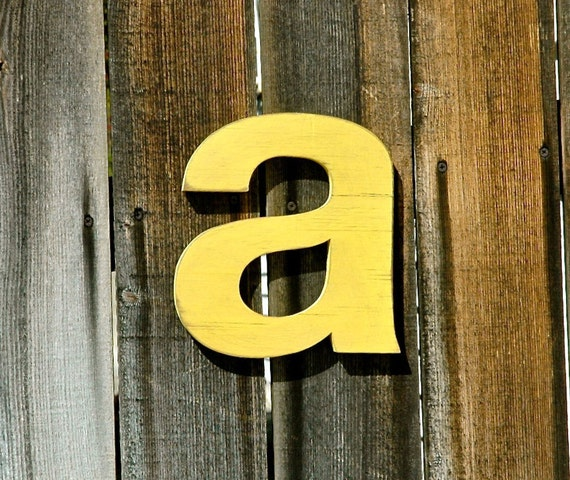 Letter A Wood Wall Art Sign - Prop, Alphabet, Photoshoot, Baby, Nursery, Kid's Room, Gift, Baby Shower, Name