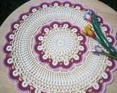 New, crocheted doily, hand made, ready to ship