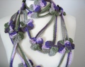 Holiday Accessories, Lariat, scarf, new, hand crocheted, Turkishteam