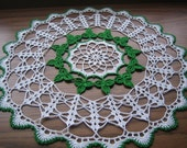 Shamrock Doily,New, Hand crocheted, made by Demet
