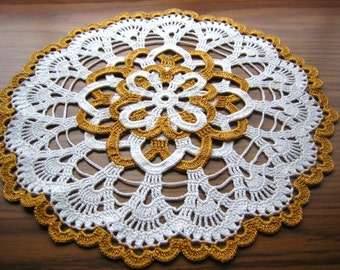 Hand crocheted, new, fantastic Holiday/Christmas doily