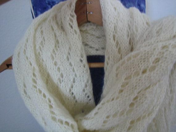 Hand knitted, beige, oversize shawl, Original design, luxury, multi use, very soft, winter fashion, angora blend, OOAK