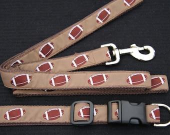 Football leash and collar set