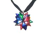 Dichroic Glass Pendant - Multi Colors - Starburst - Jewelry Pendant