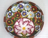 Hand Painted Mexican Bowl - Multi Color - Pink - Red - Black - White - Purple - Home and Living -   Housewares Bowl