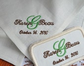 Wedding Gown Label and Monogrammed Handkerchief Set