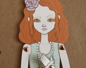 Little Eliza Jointed Movable Paper Doll