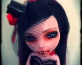 Custom Draculaura Monster High Doll Repaint - Lily - Beauty has a price