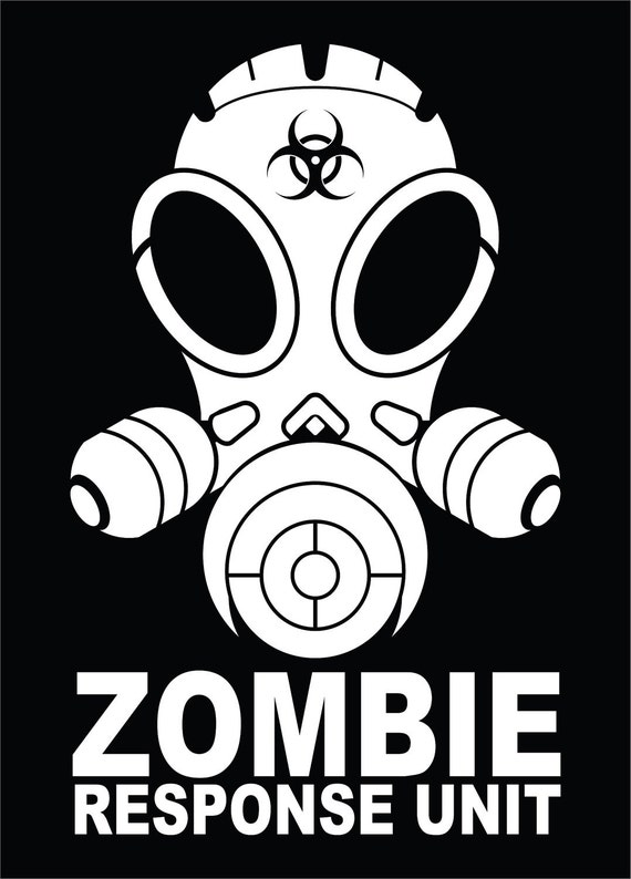 Items Similar To Zombie Response Unit Vinyl Decal Sticker