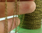30 Meters - 99 Feet (1.5 x 2 mm) Antique Bronze Tone Brass Soldered Chain - Y006 ( Z028 )