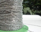 10 Meters - 33 Feet (1.5 X 2 Mm) Silver Tone Brass Soldered Chain - Y005  ( Z015 )