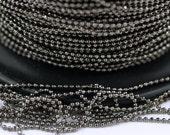 200 Meters - 660 feet 1 mm Gunmetal Brass  Ball Chain  ( Z009 )