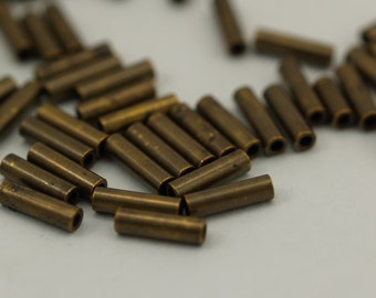500 Pcs 7x2 Mm Antique Bronze Tone Metal Tube Spacer Bead ,charms,findings  K192