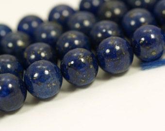 Lapis 12mm Round Gemstone Beads Full Strand 15.5 Inches G66