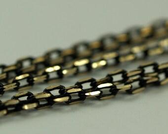 20 Meters - 66 Feet 2 X 3.5 Mm Brass Soldered Chain - Bg2 ( Z005 )
