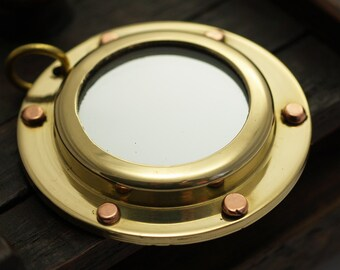 Brass Sailor Charm, 20 Solid Brass Ship Portholes