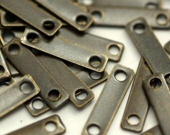 100 Pcs Antique Brass Rectangle Connector  (10 X 2.5)  K131