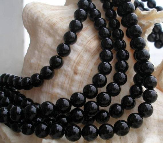 Onyx Stone 8 Mm Round Beads Full Strand G96 - 97