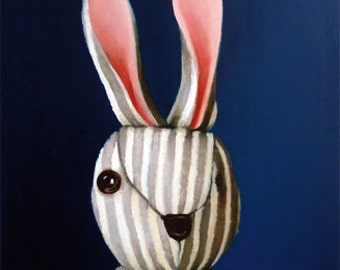 One-Eyed Striped Rabbit note card 3 pack