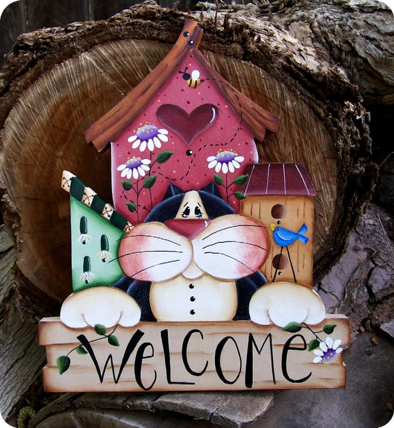 Welcome Kitty Sign 12