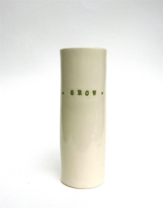 grow   ...     whimsical porcelain hand built vessel