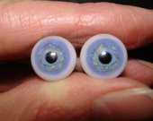 Small Blue Glass Doll Eyes (custom sizes) 6mm-11mm  by lalaland glass SRA v44
