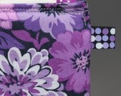 Purple zippered pouch  - WINTER SALE PRICE