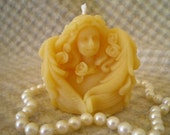 Pure Natural Beeswax Tiny Angel Cupid Seraphim Candle