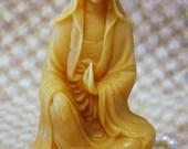 Beeswax Candle Quan Yin Buddhist Boddhisattva Shaped Candle