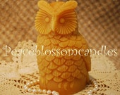 Beeswax Candle Owl Shaped Candle