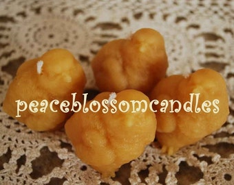 Beeswax Candles Baby Chick Candles Set of 4