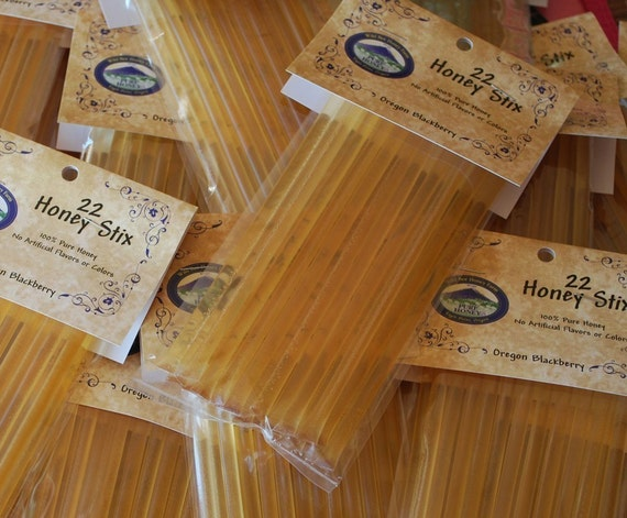 Honey Stix Honey Sticks Straws filled with Pure Honey Package of 22