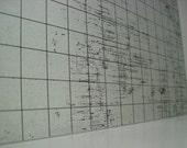 RESERVED .. JULIA C. (6) Basic Black Graph  (Distressed)  Steel Memo Board